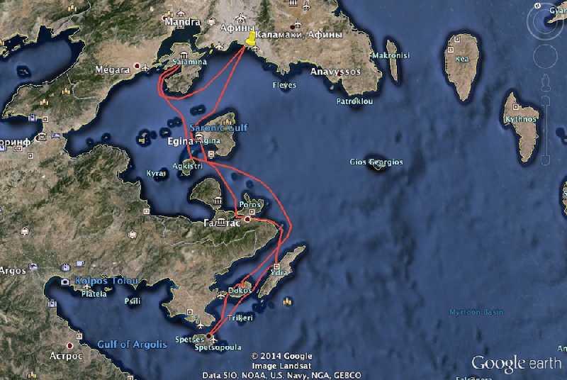 Морская прогулка по греческим островам
