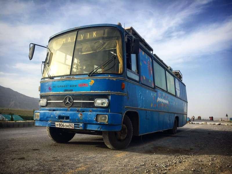 На автобусе из Москвы в Индию через Грузию, Армению, Иран, Пакистан