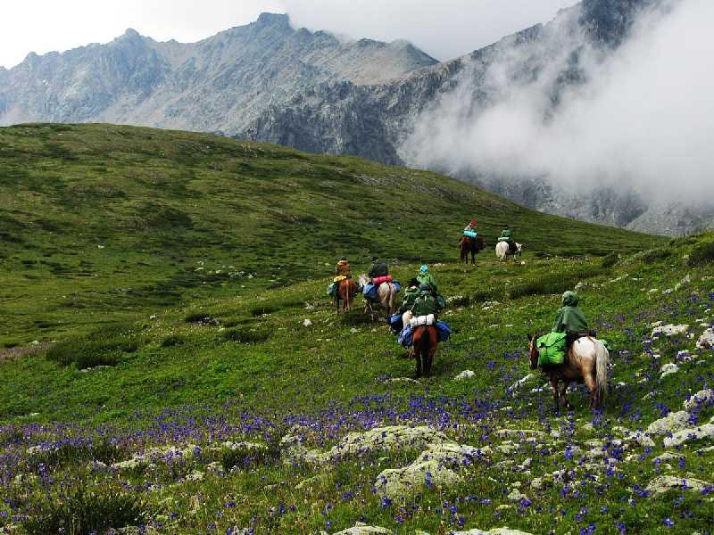 Конный поход к Туюкским озерам на Алтае