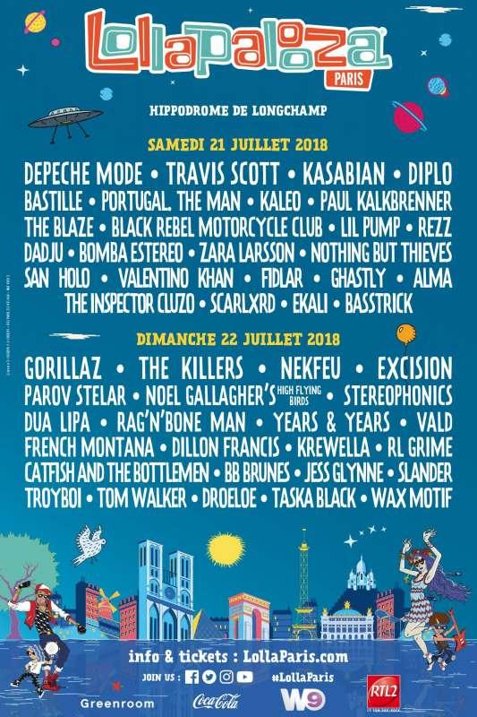 Любителям фестивалей альтернативной музыки - в этот раз на Lollapalooza Paris потрясающий...