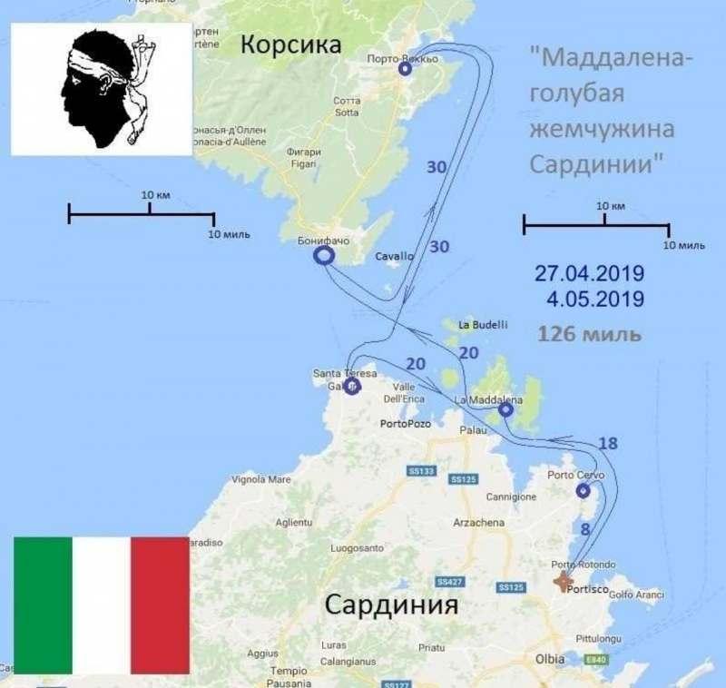 Путешествие на яхте Сардиния-Корсика