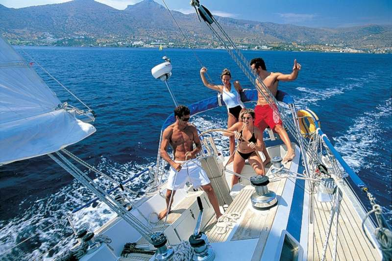 Яхта, парус, Хорватия, лавандовые поля, вино
