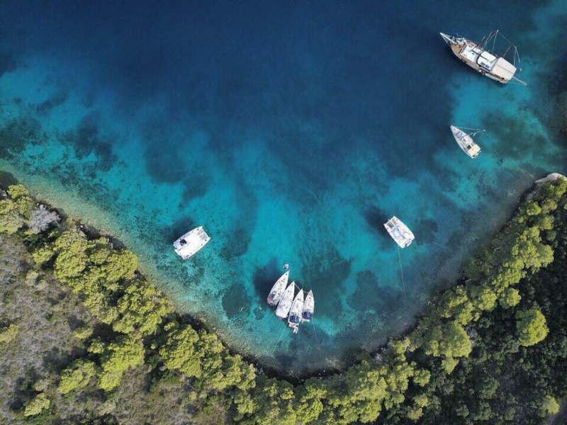 Путешествие на яхте в Хорватию