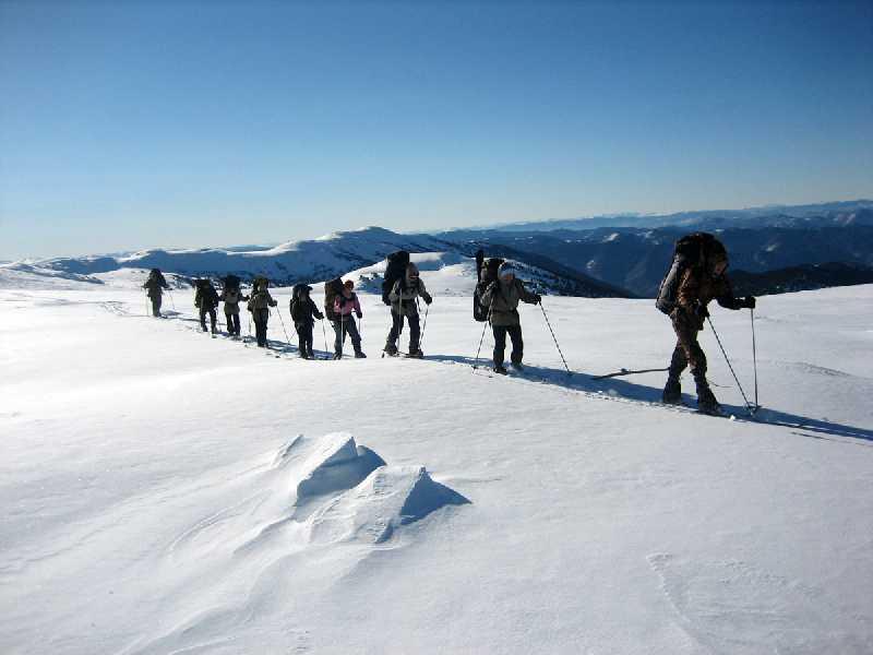 Лыжный поход по Алтаю к Каракольским озерам