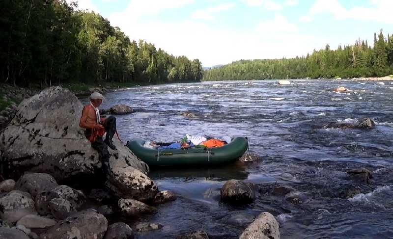Сплав и рыбалка в тайге Красноярского края