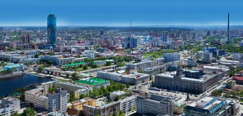 Осмотр Екатеринбурга