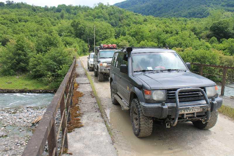 Экспедиция по Абхазии на подготовленном внедорожнике