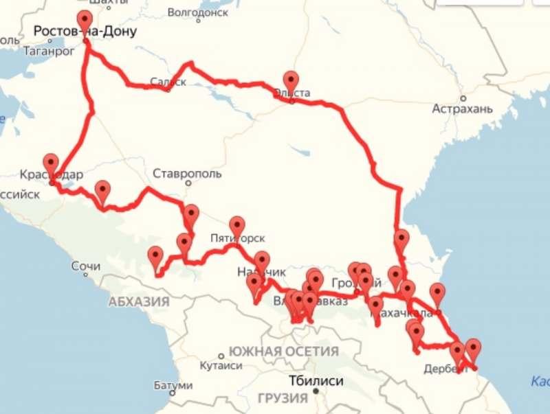 Северный Кавказ и Калмыкия в один заезд