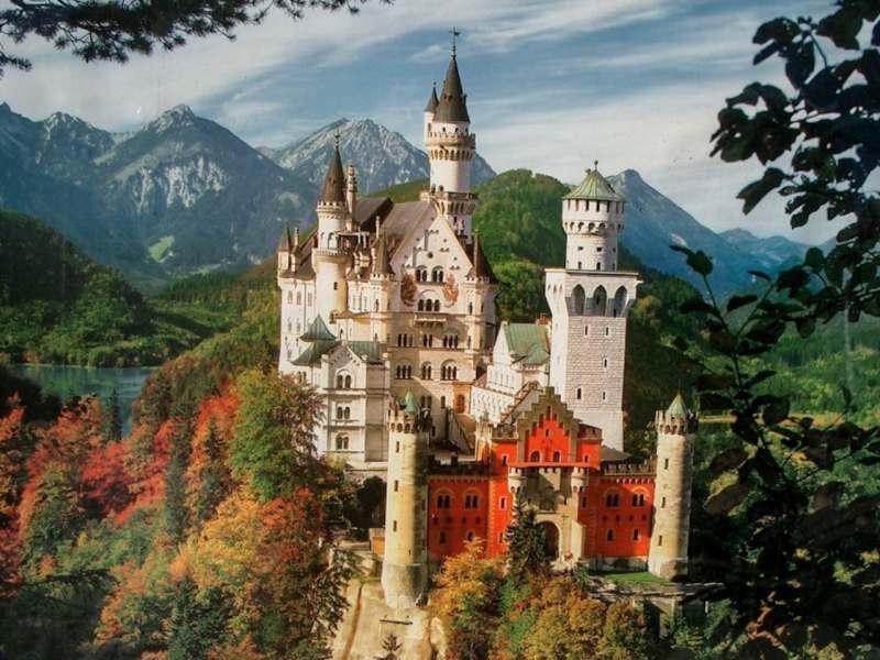 Баварские Альпы и королевские замки Людвига II. Самая высокая точка Баварии, огромное ущелье,...