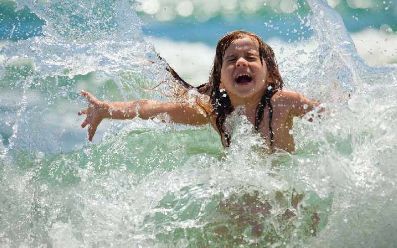 На море с детьми. Испания.